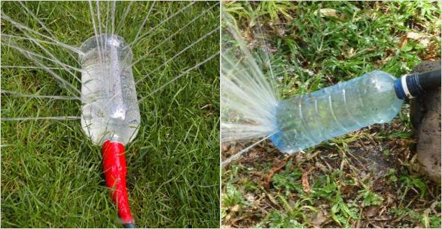 Дождеватель из пластиковой бутылки
