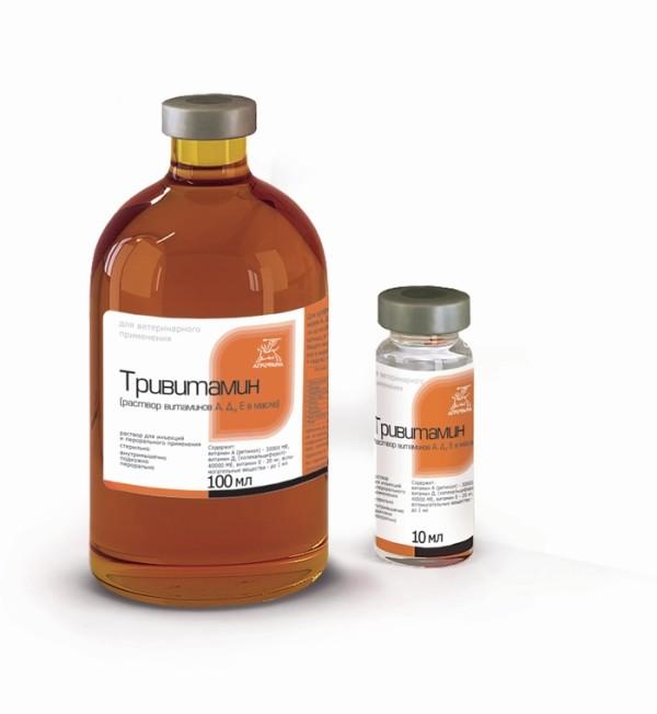 Пузырек лекарственного препарата Тривитамин