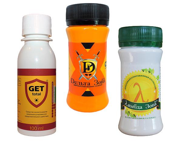 Многие концентраты инсектицидов адаптированы для бытового применения и продаются в мелкой фасовке.