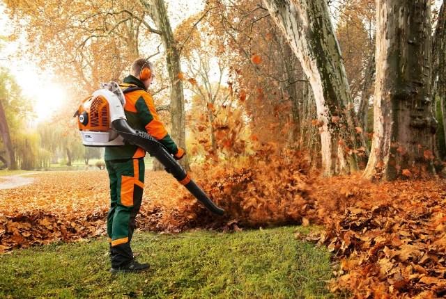 Пример быстрой уборки листьев