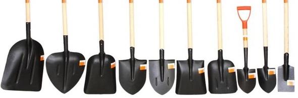 Лопаты из рельсовой стали с разной формой