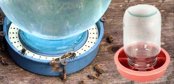 вакуумные поилка для пчел из стекла